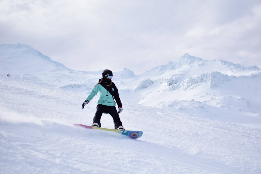 Snowboarding in Mt Ruapehu, New Zealand.